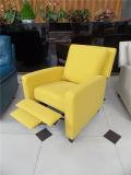 Sofa de cuir véritable de salle de séjour (C462)
