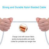 Cable trenzado Nylon 2017 rayo para el iPhone 7