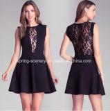 a-Sexy Deep V-Neck Dress, Sml, Slim Dress, Lace Dress, Women Clothes, Wedding Dress (D-024)