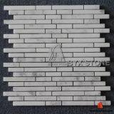 Mosaïques en marbre blanc brillant poli pour le mur et le plancher
