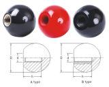 Roter Kugel-Drehknopf mit Messingeinlage