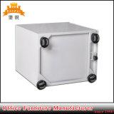Armário de arquivo móvel de 3 gavetas de metal / pedestal de aço com rodas