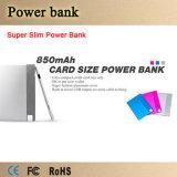 La Banca eccellente di Slim Credit Card Size 850mAh Power