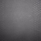 Cuoio impresso semplice nero dell'unità di elaborazione del reticolo, cuoio di pattino del Faux