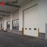 Раздвижная дверь гаража алюминиевого цвета профиля стальная надземная секционная