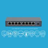 Переключатель 8 Port 10/100/1000Mbps обратный Poe с выходом 12/5A от поддержки Vlan гнезда DC