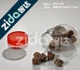 Caliente de la venta de la categoría alimenticia de plástico claro tarro de PET transparente para el caramelo