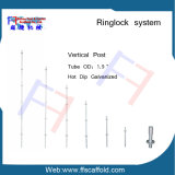 Ringlock 시스템 비계 수직 기준 수직 포스트