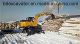 2017 excavatrices chaudes de roue de vente avec l'encavateur de bois de construction