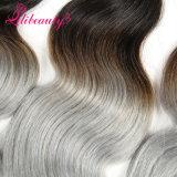 Le cheveu de Remy de couleur d'Ombre de qualité tisse les cheveux humains cambodgiens