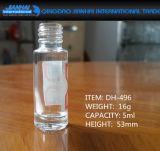 botella de cristal de la cristalería cosmética simple 5-20ml para el polaco de clavo