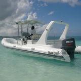 Liya 6.6m Luxus-Fiberglas-Rumpf-aufblasbarer Boots-Bewegungsboots-Verkauf