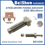 Boulon d'anchrage d'expansion Boxbolts pour des sections d'acier de construction