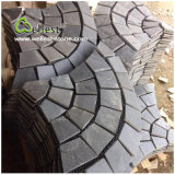 St-018 Black Slate Fan Shape Paving Stone für Landscaping