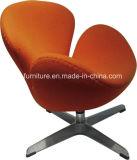 デザイナーレプリカのオフィスのためのアルミニウム白鳥の椅子