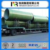 Tubo plástico reforzado del tubo GRP FRP del mortero con el certificado de Wras/ISO