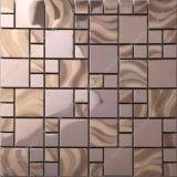 Rose Farbe Edelstahl Mosaik, Metall Mosaik für Wanddekoration