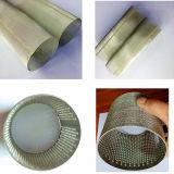 Personalizzare il tubo/del filtro a sipario della rete metallica dell'acciaio inossidabile cilindri perforati ss del filtrante del metallo