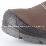 Zapatos de seguridad de cuero amarillos de Nubuck Snn409