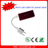 USB 2.0 de datos micro USB cable de carga para Power Bank
