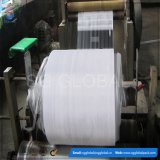Fabricado na China 50kg saco de tecido PP branco em rolos