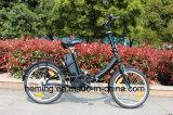 Vélo électrique de mini pliage de 20 pouces avec le noir sans frottoir d'aide de moteur