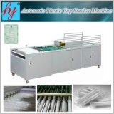 Copo de plástico de alta velocidade automática do empilhador e máquina de empilhamento