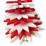 주식에 있는 벨에 펠트 크리스마스 나무 거는 장신구