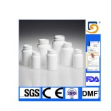 60ml Capacity White Tablet Bottle con Colored Lid, Hinge Guard Tamper Evident e Pull Ring Cap
