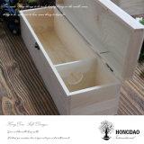 Caixa de vinho de madeira inacabada Hongdao para venda