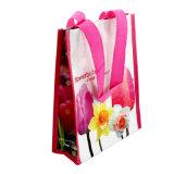 Saco de compra tecido, com laminação para a compra e relativo à promoção