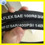 Qualitäts-Faser-umsponnener hydraulischer Schlauch SAE 100 R6