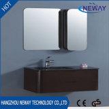 Unidad de encargo de la vanidad del cuarto de baño del PVC de la pared del hogar moderno del montaje