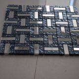 熱い販売のガラス陶磁器の金属のモザイク磨かれた壁のタイル