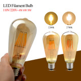 E27 LED Lampe à lampe à filament Clear Glass Cover Edison Lights