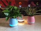 Bac de fleur de haut-parleur de Bluetooth de Flowerpot de musique de DEL