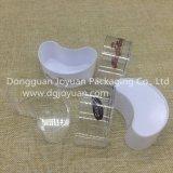 까만 투명한 백색에 있는 처분할 수 있는 플라스틱 컵 디저트 컵