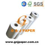 100% de papel térmico de polpa de madeira 65GSM em rolo para Receipt