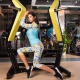 Abiti sportivi correnti di addestramento di ginnastica atletica flessibile di Spandex+Polyester della donna