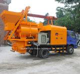 Caminhão hidráulico bomba montada do misturador concreto com a bomba Hbt40 concreta