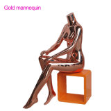 Brillante pantalla de oro rosa Mannnequin sexo hembra en venta