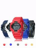 Horloges van de Kleuren van het Suikergoed van de Chronograaf van de Beweging van het Elastiekje van het plastic Geval de Zwitserse