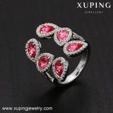 14274 de piedra rosa Moda Mujer Elegante anillo con cristales de Swarovski bisutería