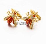 Regalo de boda divertido de las conexiones de pun¢o de las mancuernas de la abeja del diseñador de VAGULA Gemelos 517