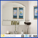 Unframed am meisten benutzter wellenförmiger silberner Spiegel in der kundenspezifischen Größe