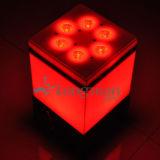 실내 9*14W Rgbawuv 6in1 DMX 무선 LED 배터리 전원을 사용하는 램프