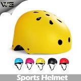 子供の黄色いモペットの保護点のマルチスポーツのバイクのヘルメット