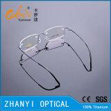 Het lichtgewicht Randloze Optische Frame van het Titanium met Scharnier (8510-C3)