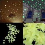 A decoração da HOME do quarto das etiquetas da parede do fulgor Stars fluorescente luminoso