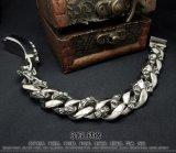 Bijou titanique de corps de bracelets d'identification de mode de type de punk et de roche unisexe